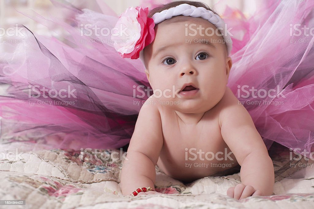 Little girl in her nursery royalty-free stock photo