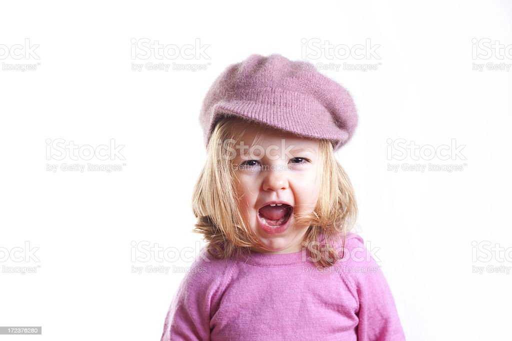Little Girl In Pink stock photo