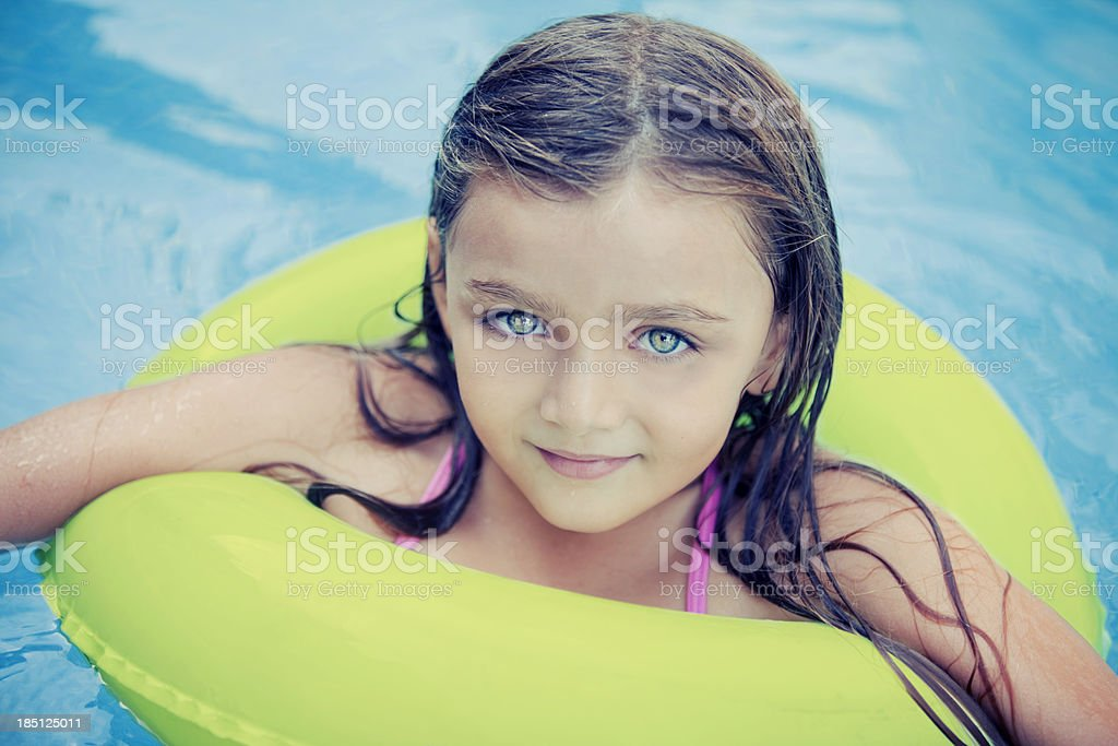 Little Girl in Pool royalty-free stock photo
