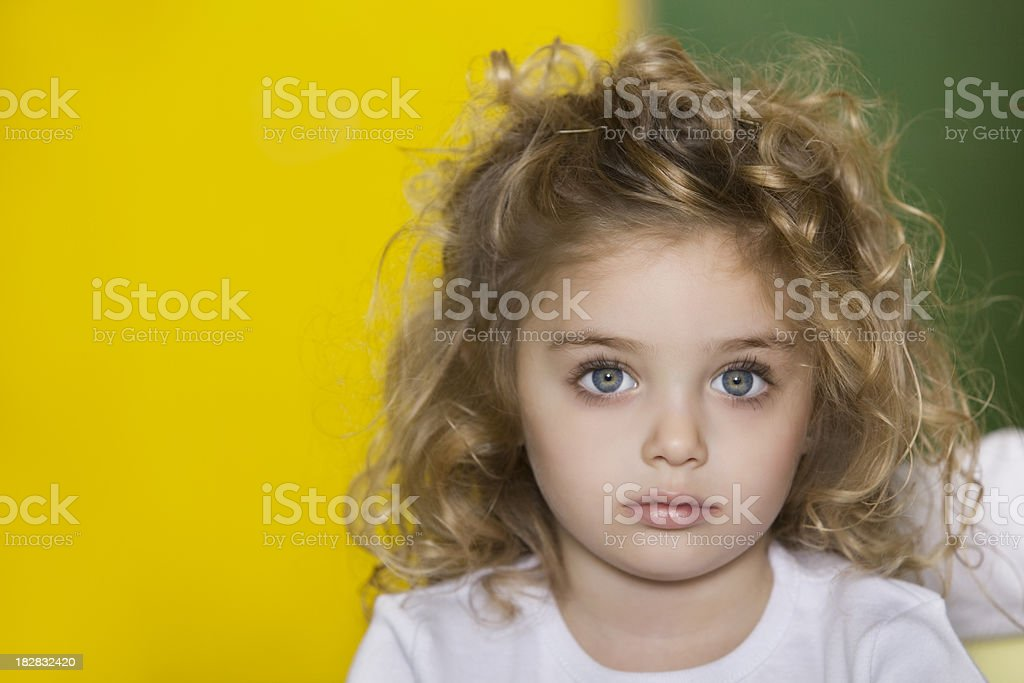 Little Girl in School royalty-free stock photo
