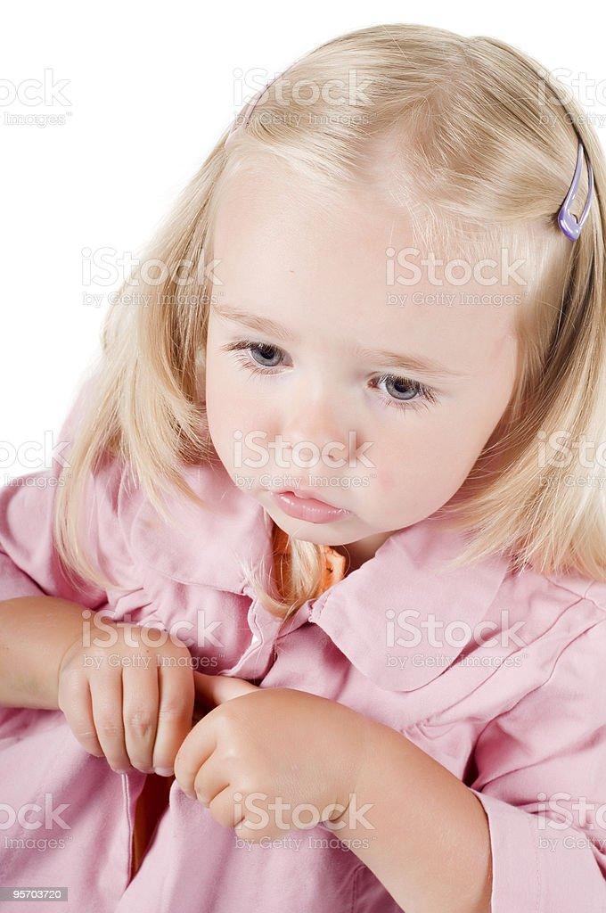 Little girl in studio stock photo