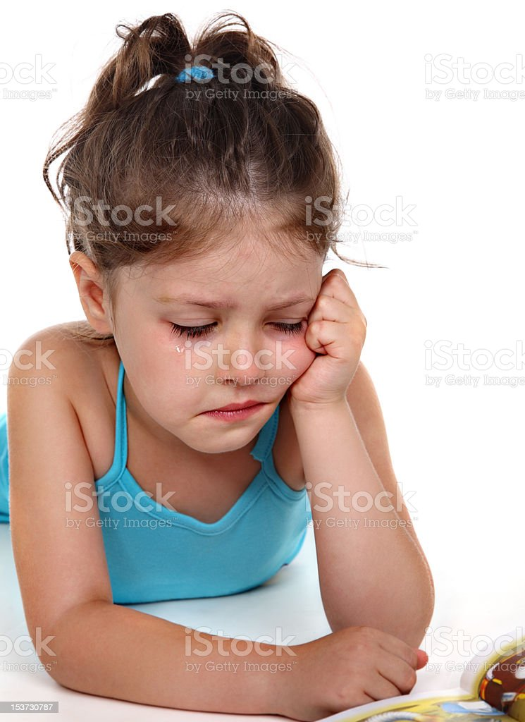 Little girl in tears royalty-free stock photo