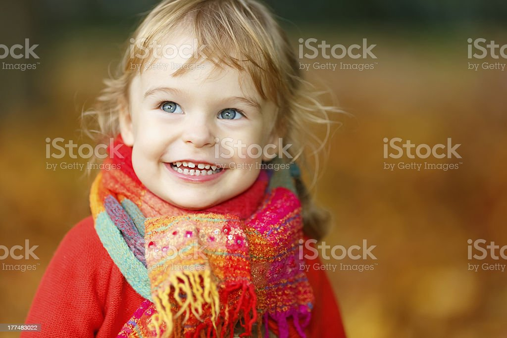 Little girl in the park royalty-free stock photo