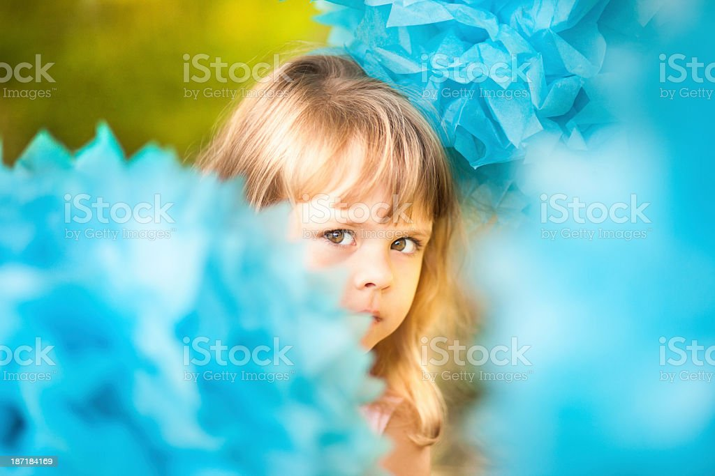 Little Girl Looking At Camera royalty-free stock photo