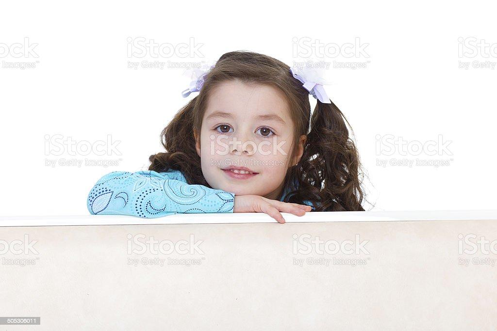 Petite fille looks photo libre de droits