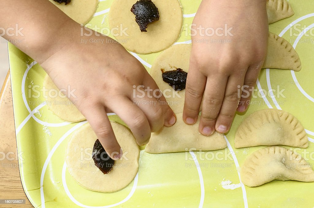 Little Girl Making Cookies royalty-free stock photo