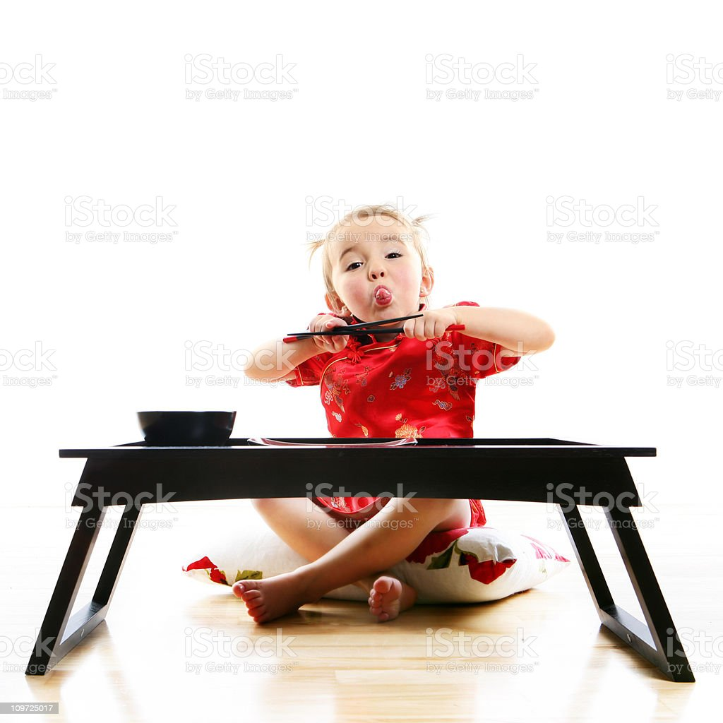 Little Girl Making Face royalty-free stock photo