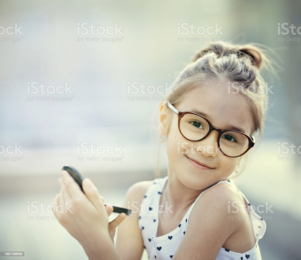 Little girl of fashion stock photo