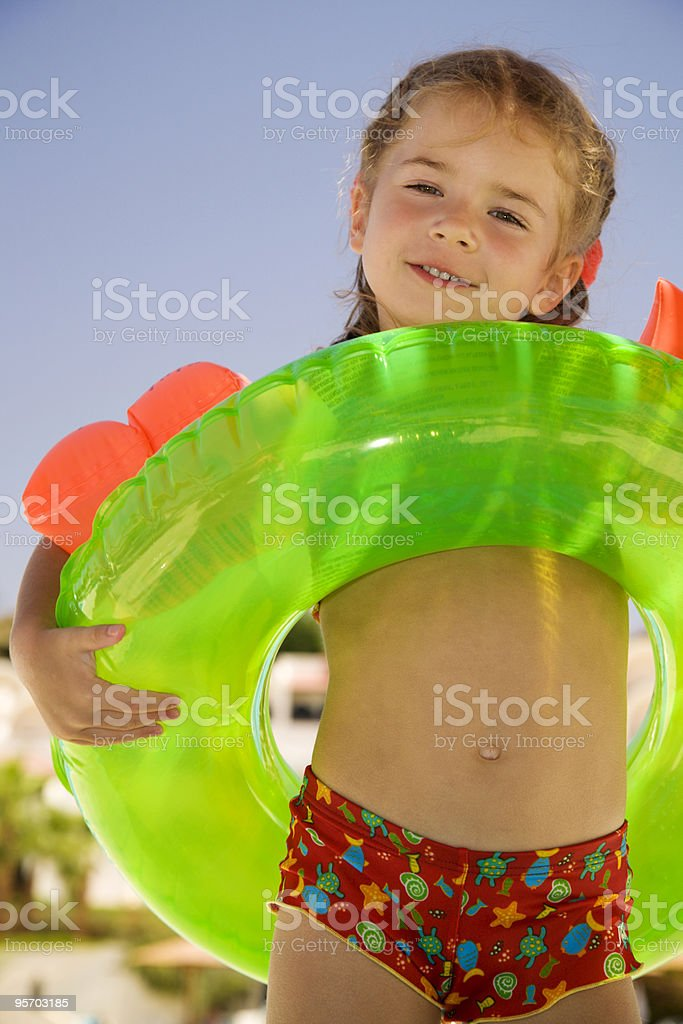 Little girl on beach royalty-free stock photo
