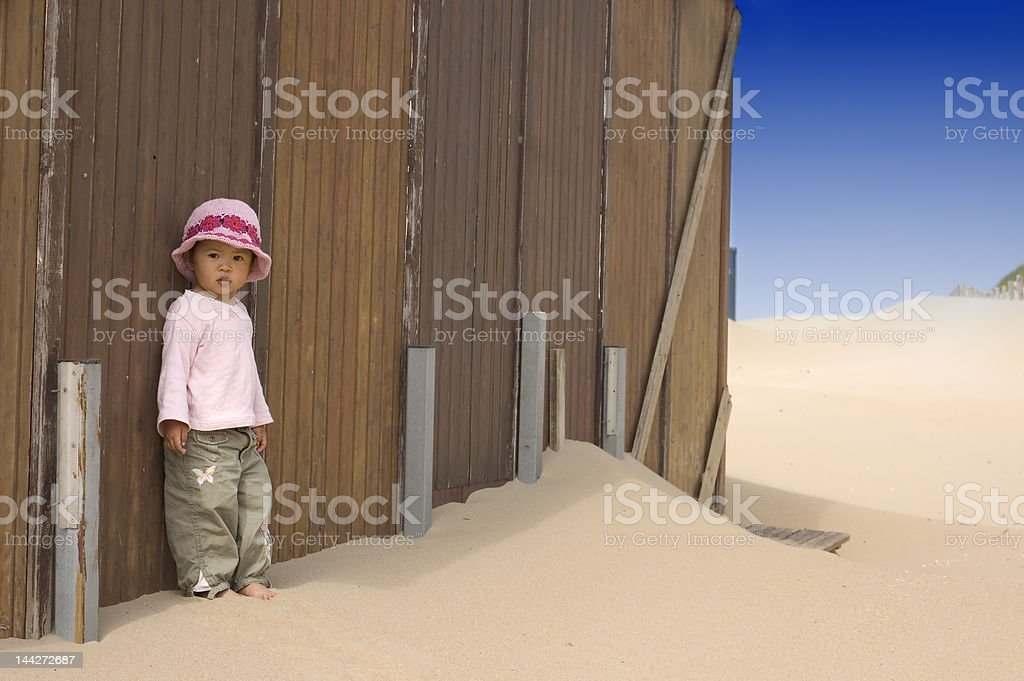 little girl on the beach royalty-free stock photo