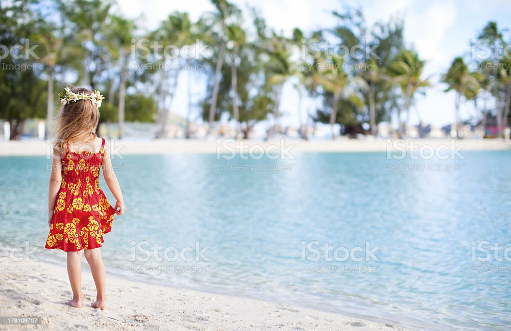 Little girl on vacation royalty-free stock photo