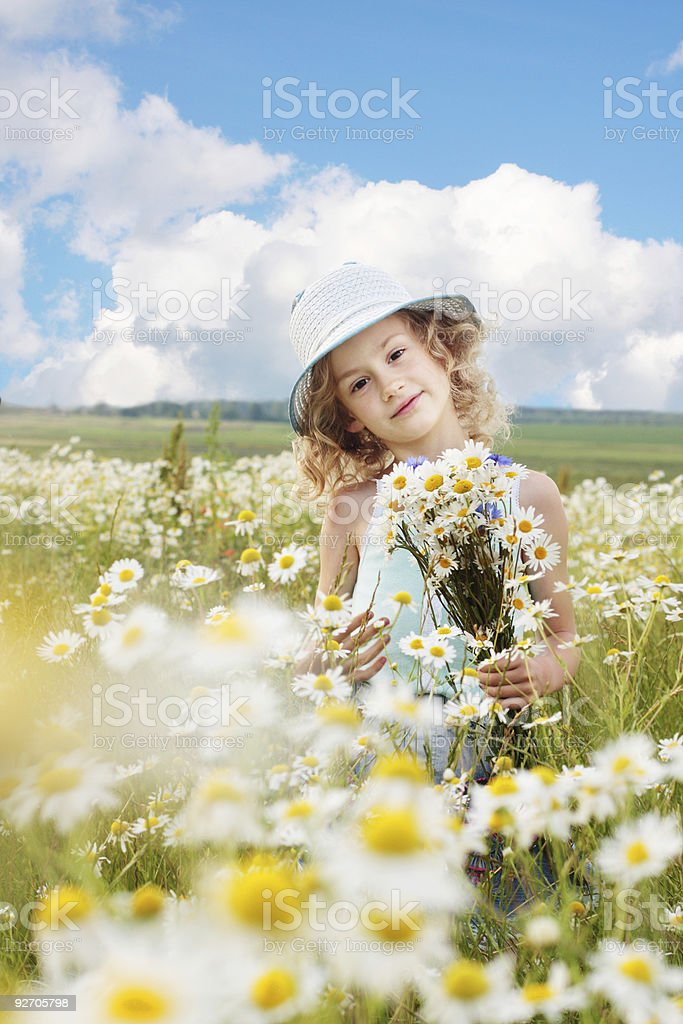 little girl outdoor royalty-free stock photo