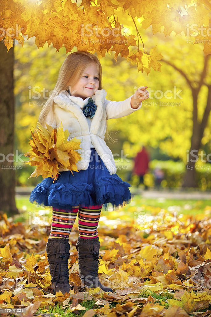 Little girl outdoors royalty-free stock photo