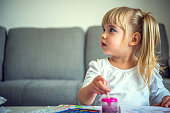 Little girl paiting