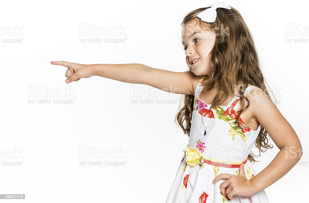 Little Girl Pointing royalty-free stock photo