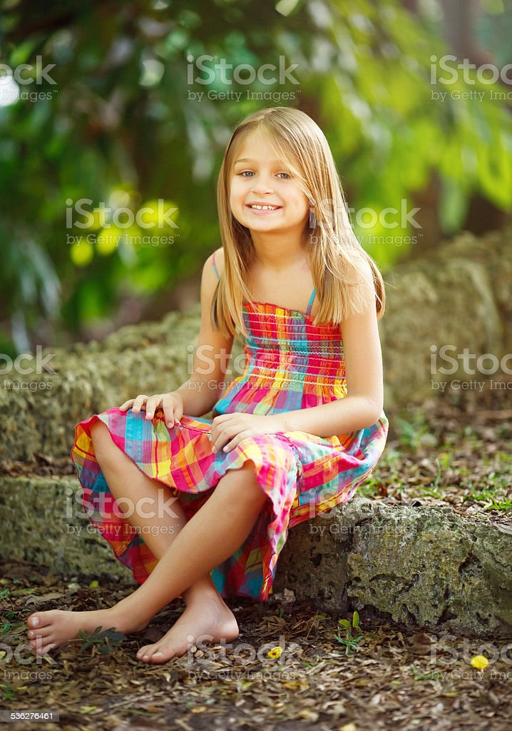 Little girl portrait stock photo