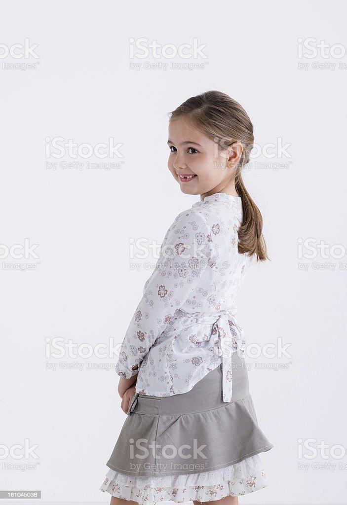 little girl posing royalty-free stock photo