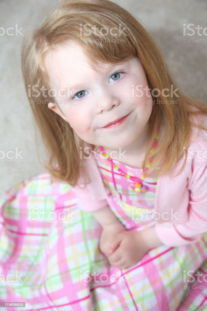 Little Girl Pretty in Pink royalty-free stock photo