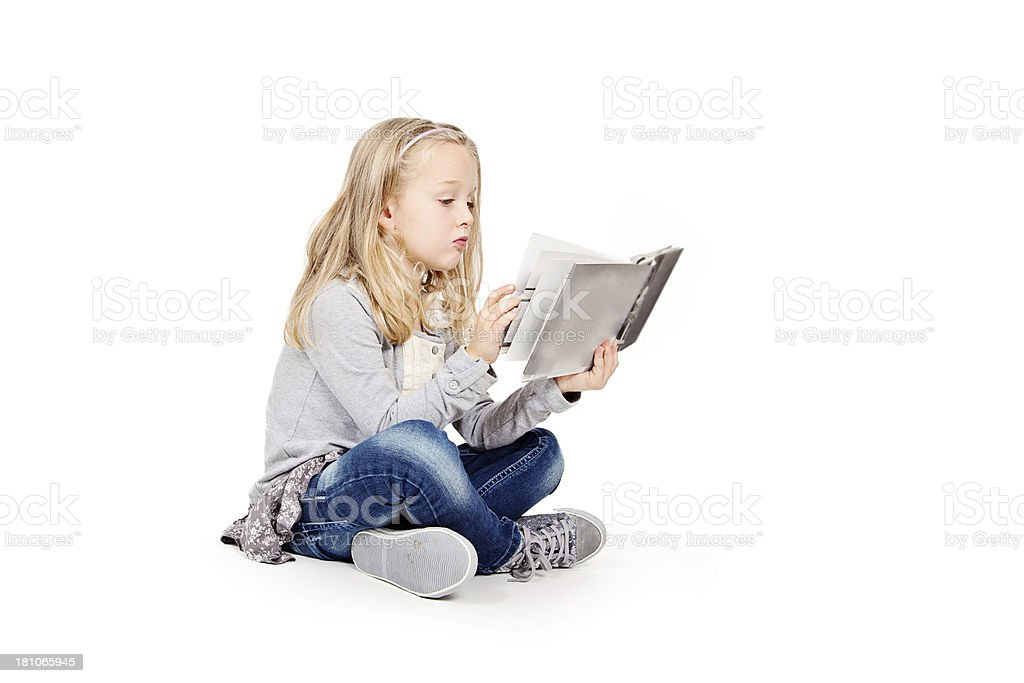 Little Girl Reading royalty-free stock photo
