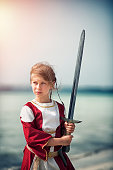 Little girl shieldmaiden