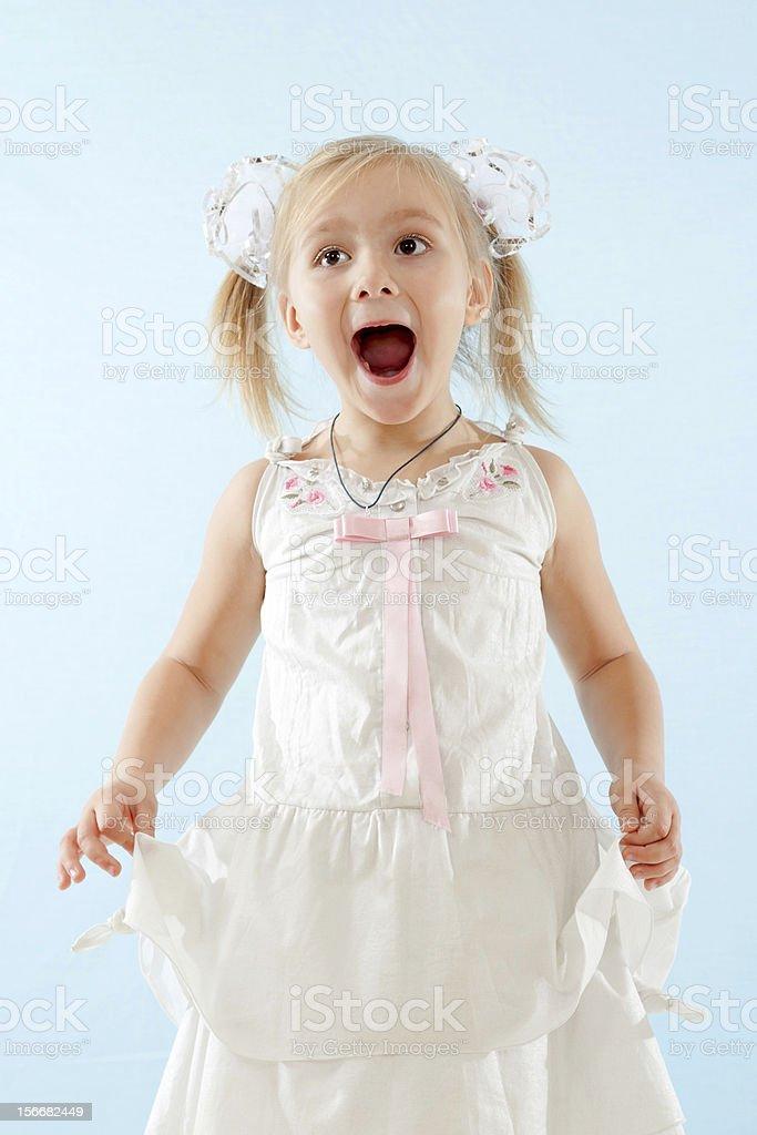 Little girl sings royalty-free stock photo