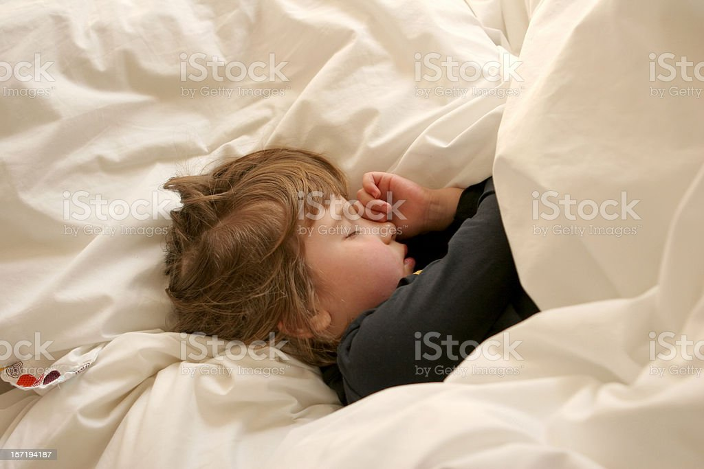 Little girl, sleeping stock photo