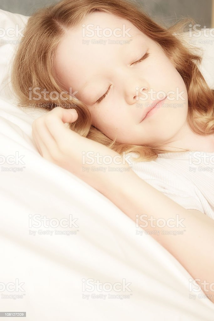 Little Girl Sleeping, soft focus royalty-free stock photo