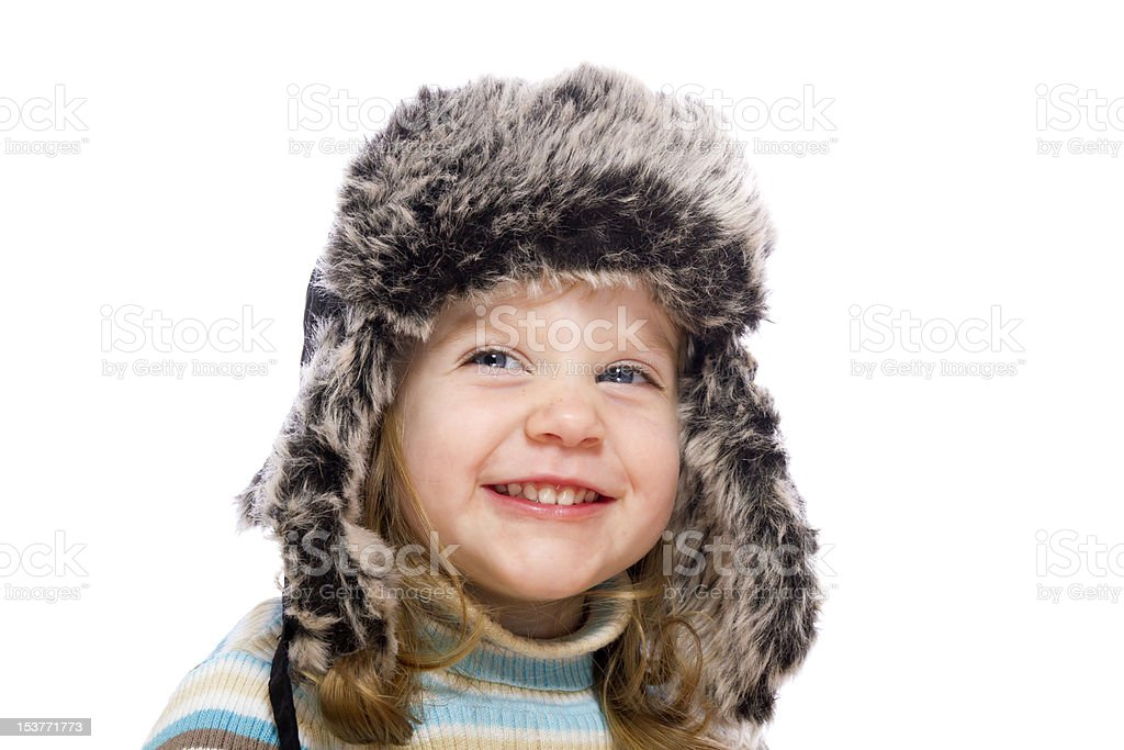 Little girl smiling royalty-free stock photo