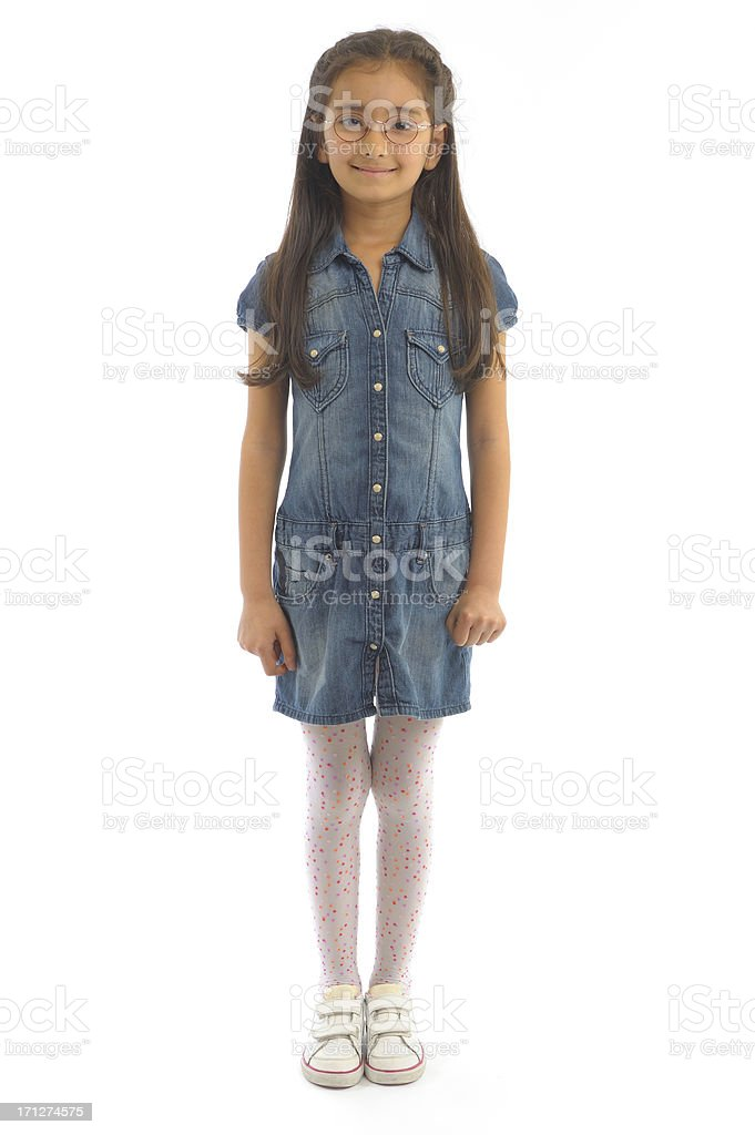 Little girl standing stock photo