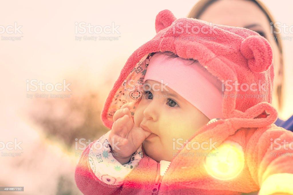 Little Girl - Thumb Sucker stock photo