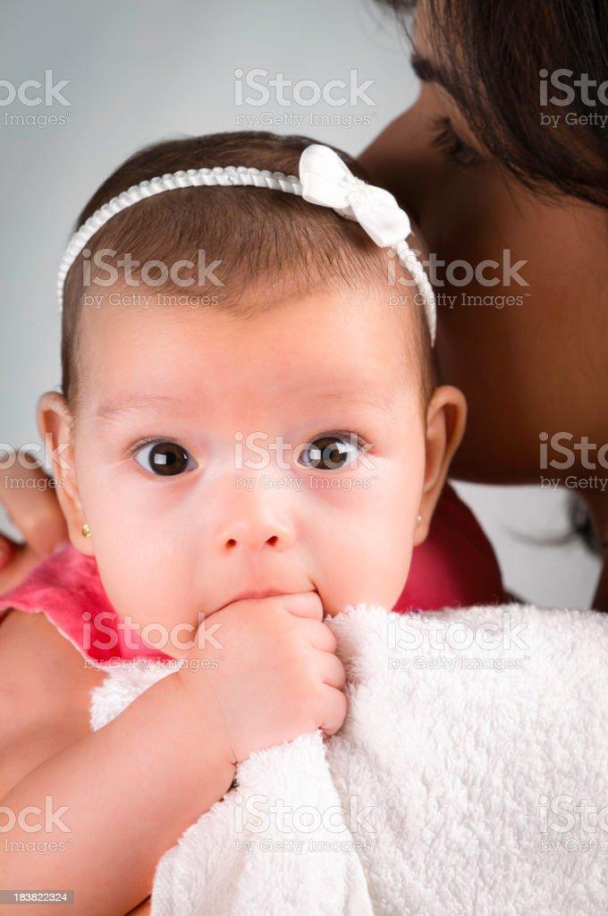 Little girl thumb sucking royalty-free stock photo