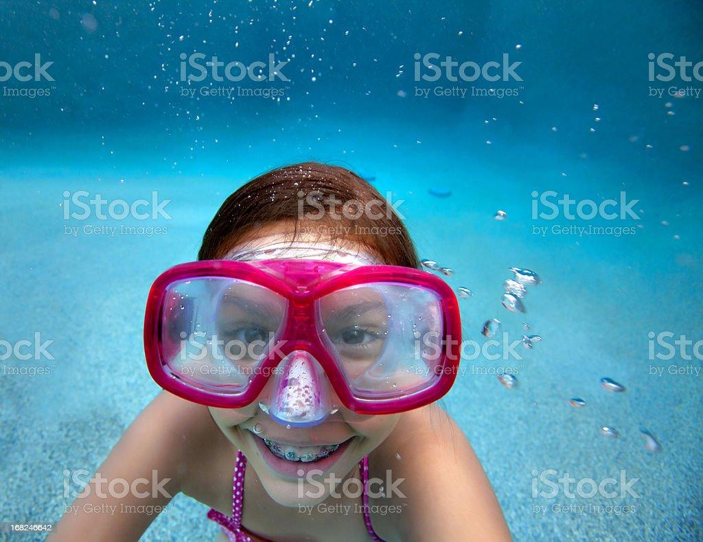 Little girl Underwater stock photo