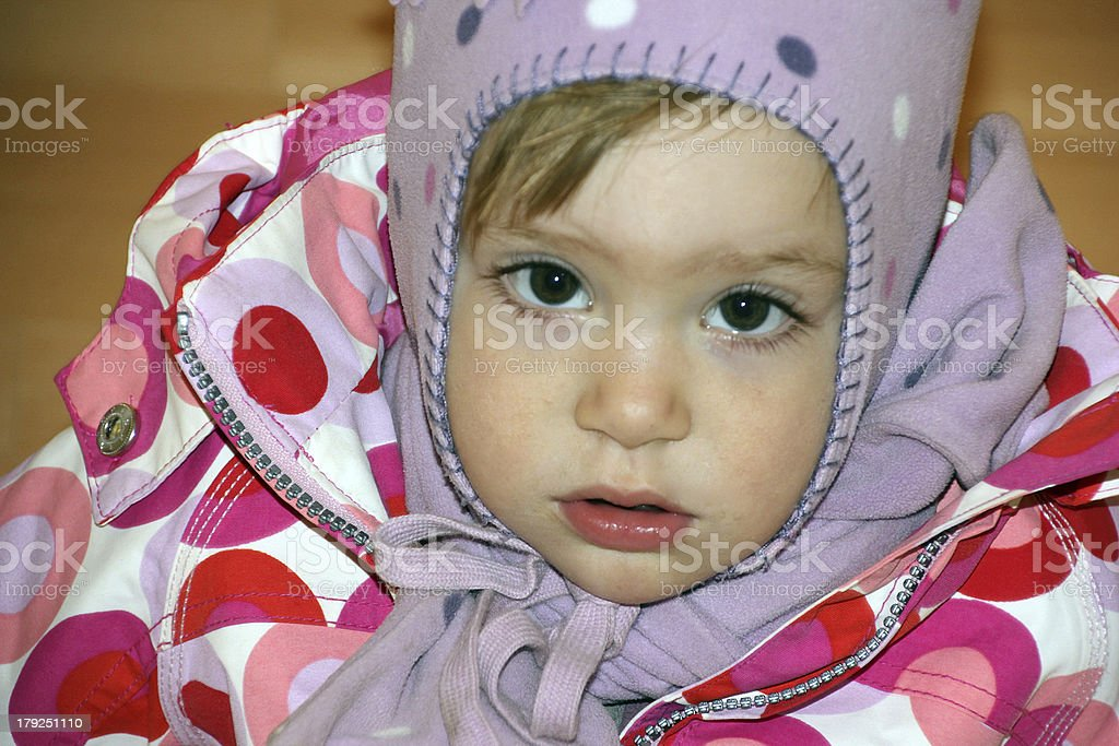 Little girl  waiting for parents royalty-free stock photo