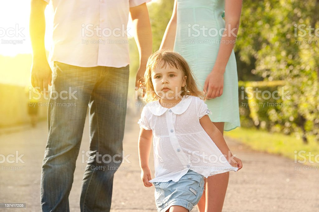 Little girl walking in park royalty-free stock photo