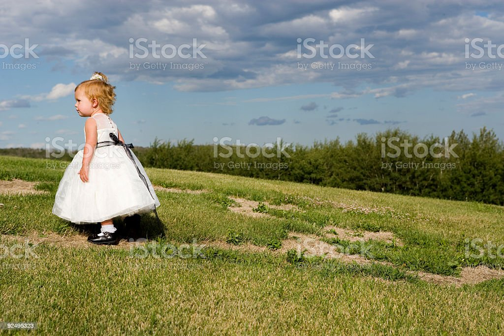 Little Girl Walking royalty-free stock photo