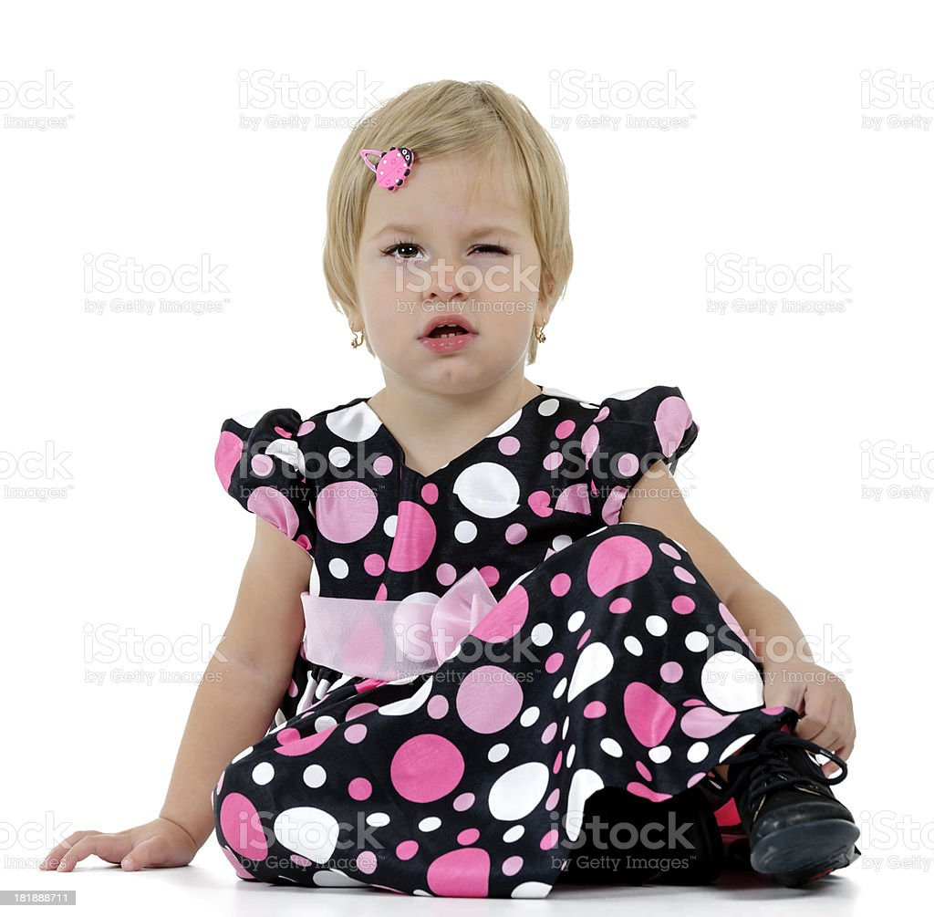 little girl winking royalty-free stock photo