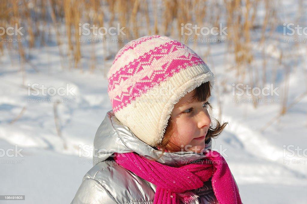 Little girl winter portrait royalty-free stock photo