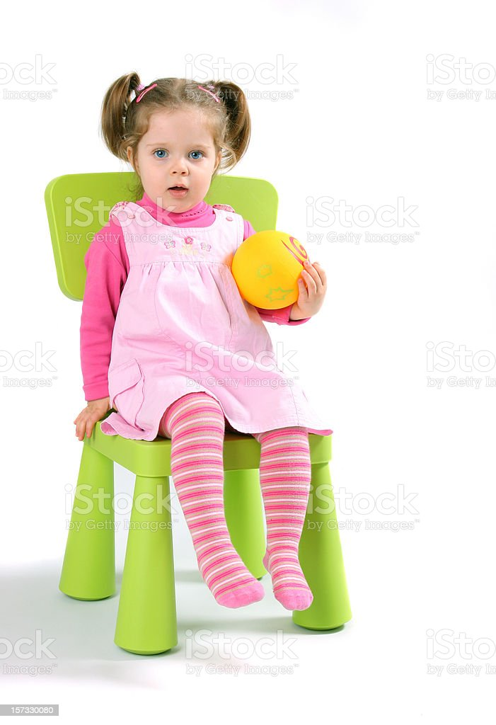 Little girl with ball royalty-free stock photo