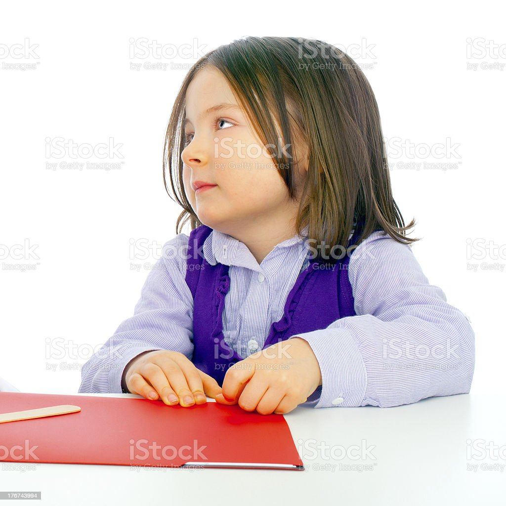 Little girl with bored face royalty-free stock photo