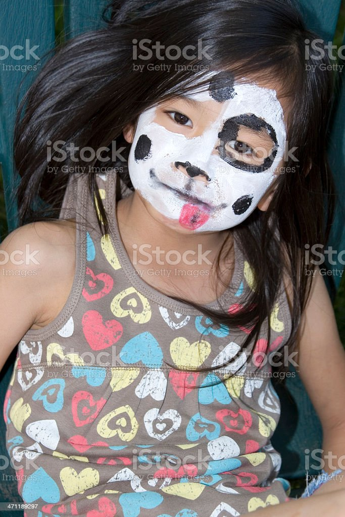 Little girl with face painted royalty-free stock photo