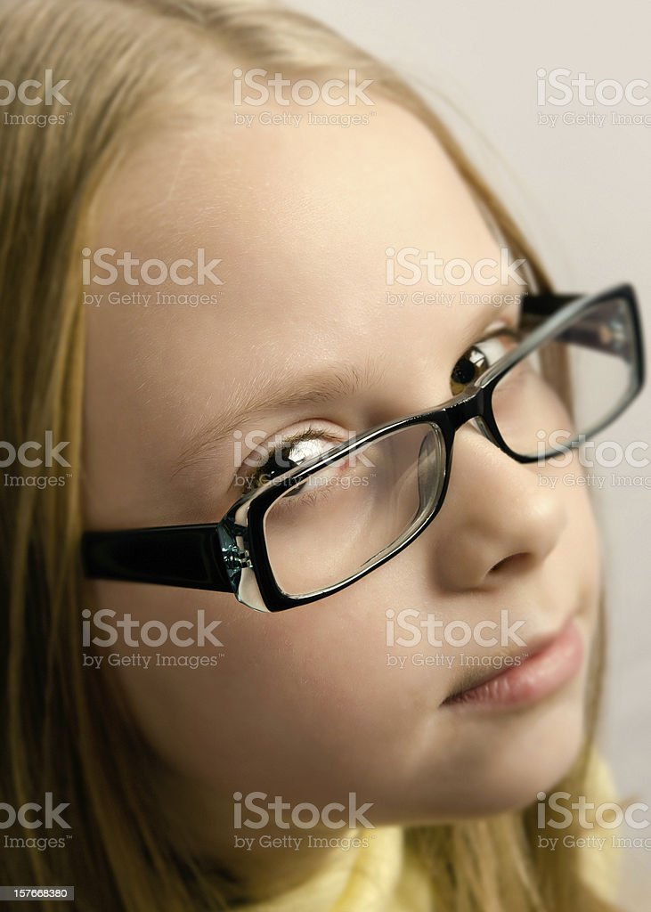 Little girl with glasses royalty-free stock photo