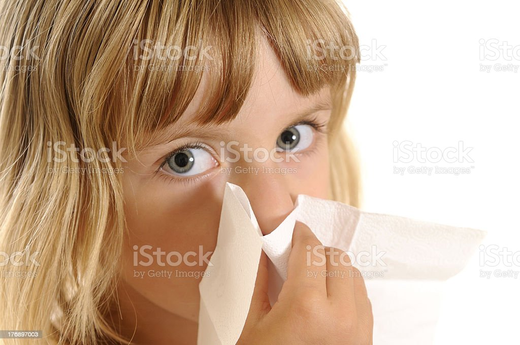 little girl with handkerchief royalty-free stock photo
