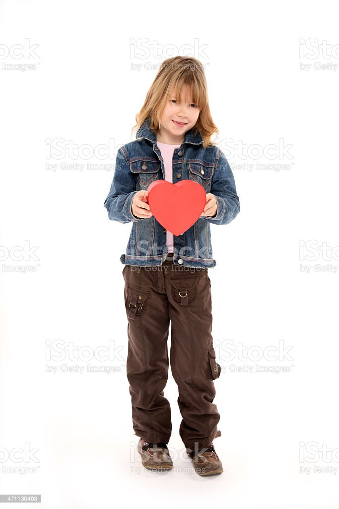 little girl with heart royalty-free stock photo
