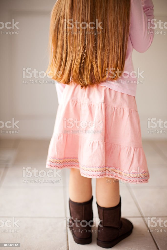 Little Girl With Long Red Hair royalty-free stock photo