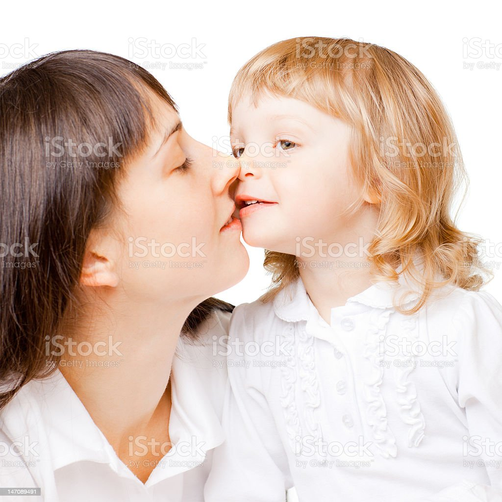 Little girl with mom royalty-free stock photo