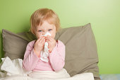 Little girl with runny nose