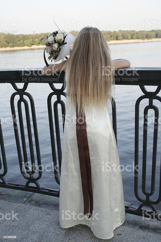 little girl's back royalty-free stock photo