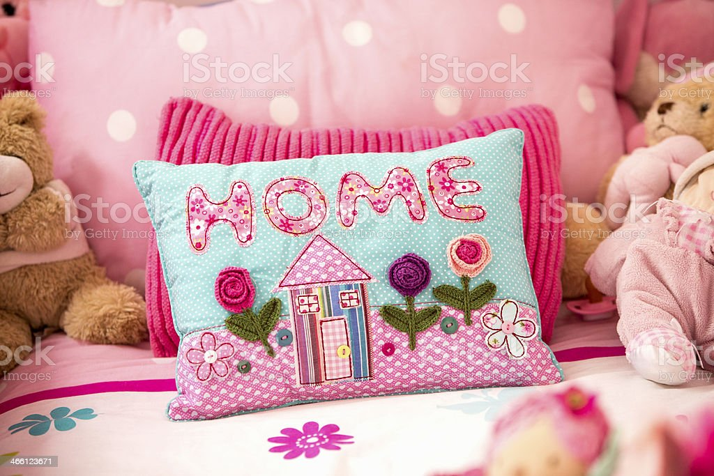 Little Girls bed royalty-free stock photo