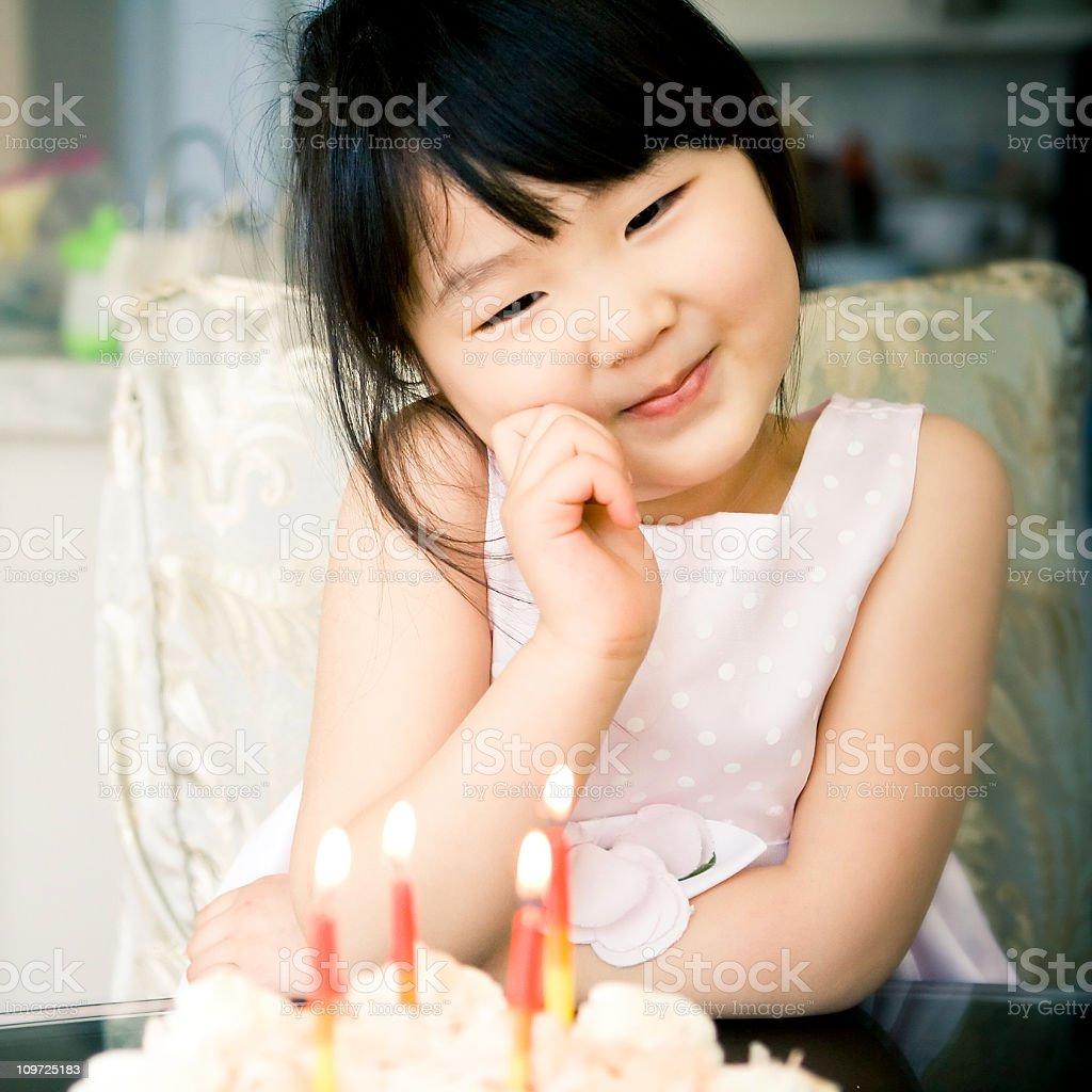 Little Girl's Birthday royalty-free stock photo