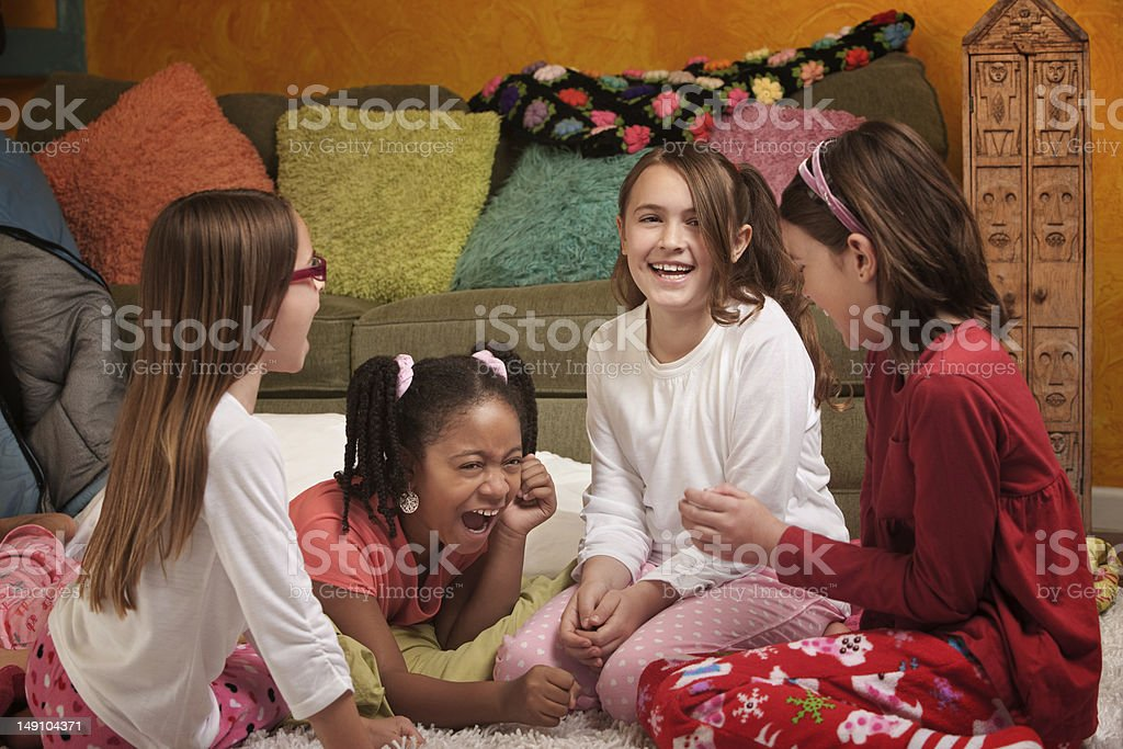 Little Girls Laughing stock photo